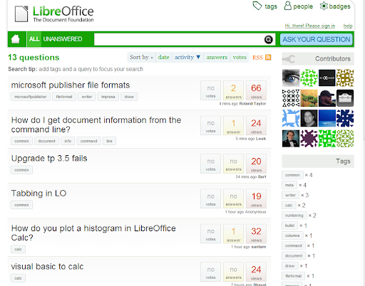 Ask LibreOffice