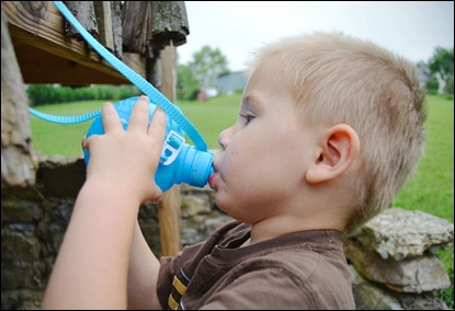 polished photo PPP kids drinking water