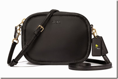 Peanuts X Coach Black cross body sling bag