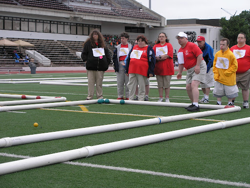 Special Olympics athletes participating in Bocce. (Photo credit: Jeremy Shreckhise)