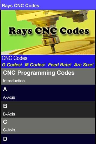 Rays CNC Codes