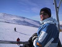 Gerrod on the ski lift