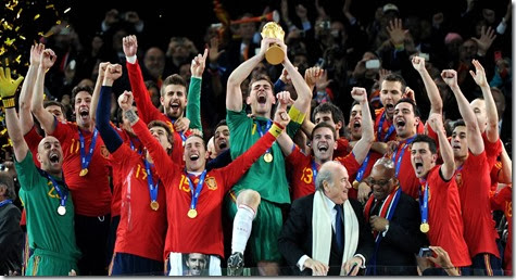 World Champions Spanish Team