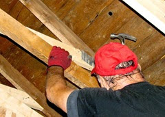 1407153 July 13 Terry Adding Mending Plates To Vaulted Ceiling