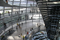 Inside the dome on the Reichstag