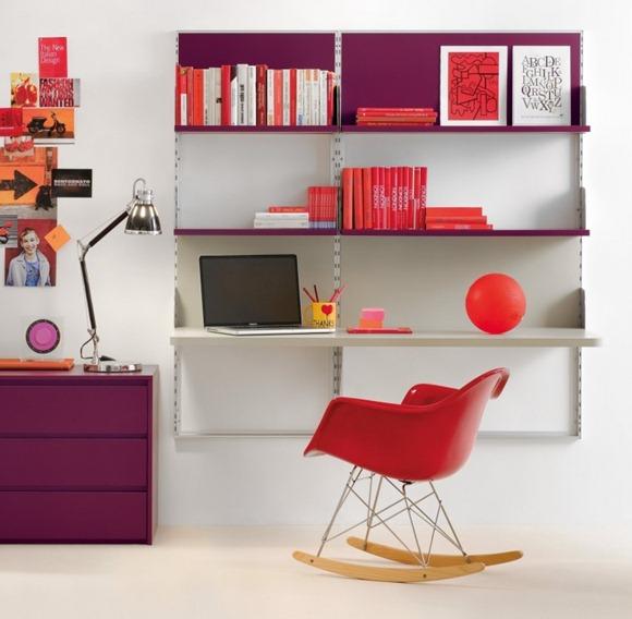 plataforma escritorio púrpura rojo