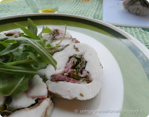 torihamu prosciutto pollo giapponese farcito rotolo rucola prosciutto crudo origano salvia spezie rosmarino timo light senza grassi