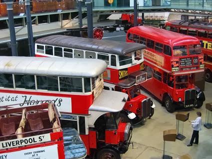 Interior of the London Transport Museum