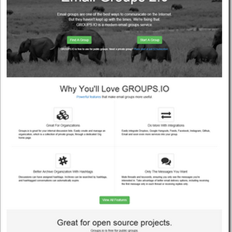 Groups.io (Email Groups 2.0)=, Mailing lists for the 10's, i.e. not your dad's mailing list service)