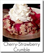 cherry strawberry crumble