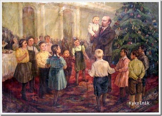 Неизвестный художник «Ленин и дети»