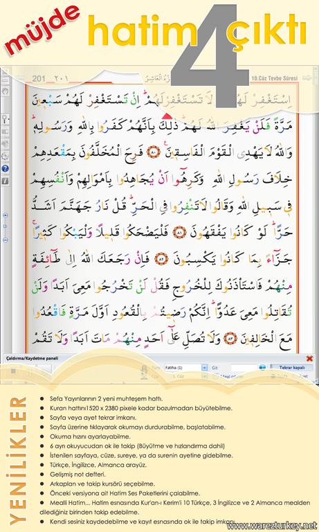 KUR'AN-I KERİM HATİM PROGRAMI 4.2 - Tek Link indir