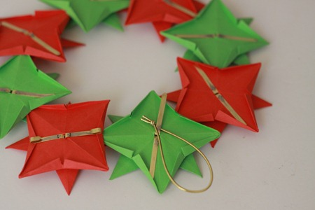 Origami Wreath Tutorial (7)
