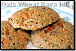 Oats Wheat Rava Idli