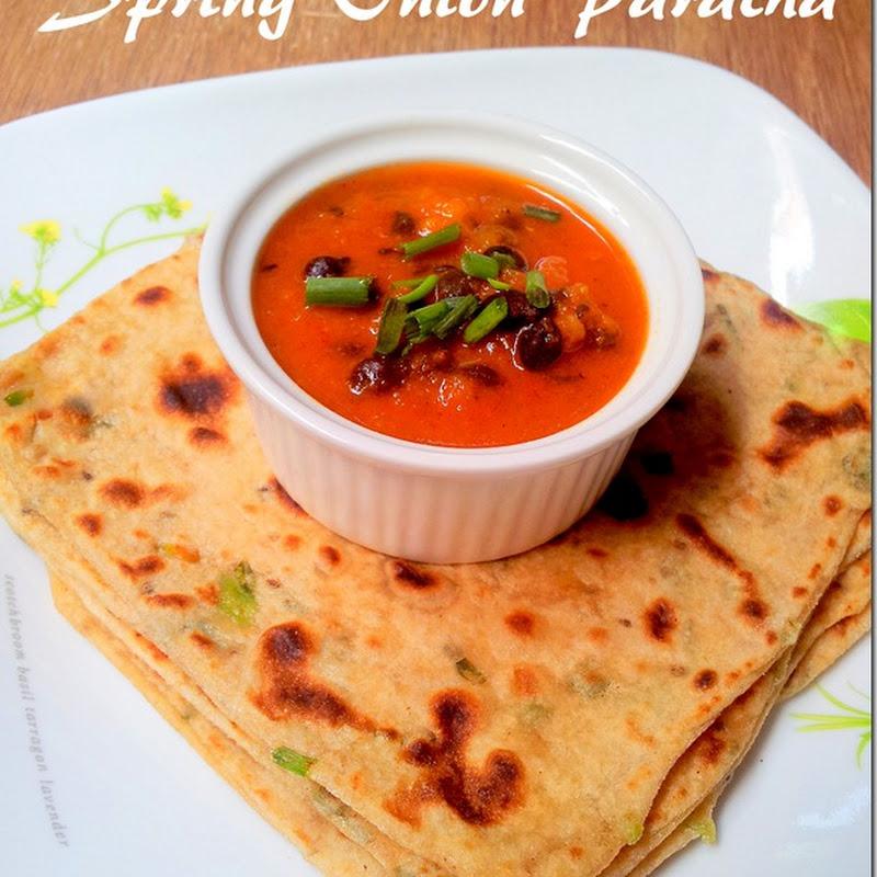 Spring Onion Paratha | Scallion Flatbread