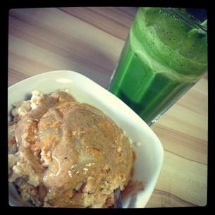 5 Quinoa-Milchreis und ein grüner Saft