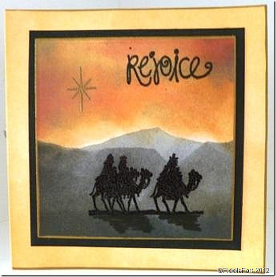 Three Kings Rejoice Christmas Card