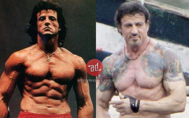 Antes y despues de Sylvester Stallone
