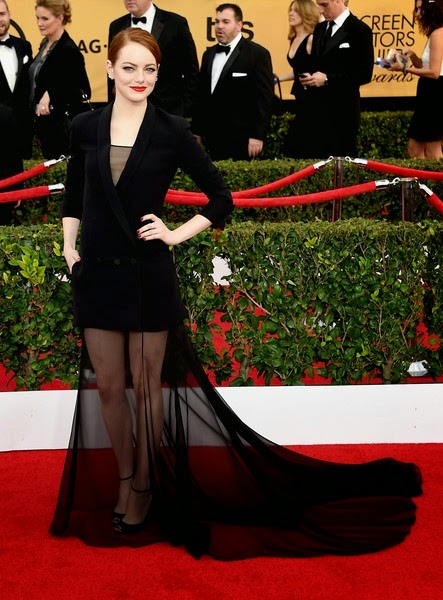 Emma Stone attends the 21st Annual Screen Actors Guild Awards