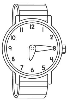 Reloj de mu eca dibujos para colorear - Dibujos de relojes para imprimir ...