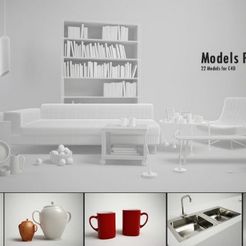 22 Furniture 3D Models for Cinema 4D