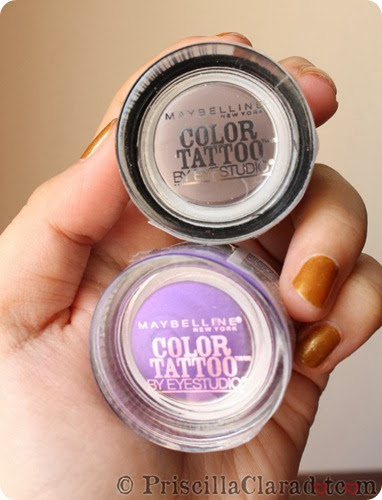 Priscilla Clara beauty blogger IBB MUC Maybelline makeup Color Tattoo Taupe and Purple