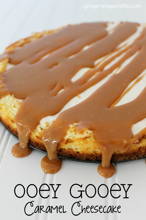 Ooey Gooey Caramel Cheesecake at GingerSnapCrafts.com #cbias #shop_thumb