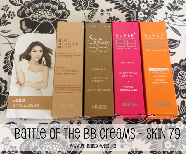 Makeup Wars - Battle of the BB Creams - Skin 79 Swatches
