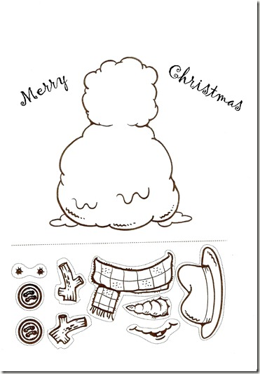 Teaching the Little Ones English : SNOWMAN WORKSHEET