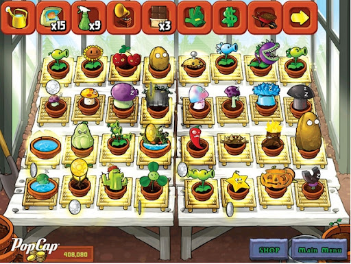 Plant and zombies shopping