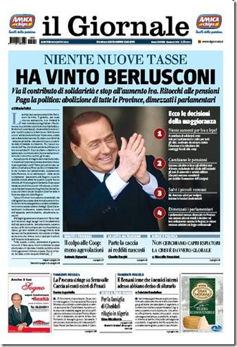 Il Giornale del 30 agosto 2011