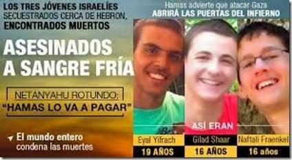 jovenes israelies asesinados 2