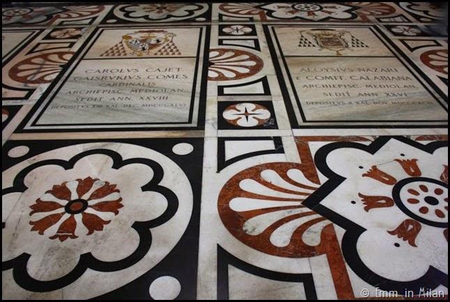 Tile details Milan Duomo