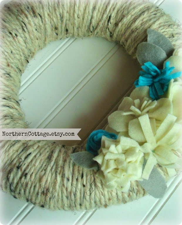 Handmade Bloom Wreath {NorthernCottage}