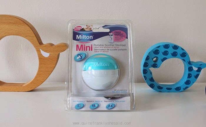 milton mini portable soother steriliser review