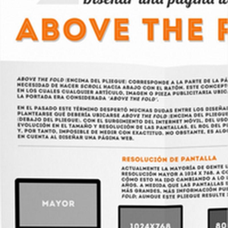 [Infografía] ¿Qué es el Above the fold en un sitio web, y como aprovecharla?