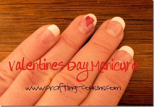 Valentines Day Manicure from The Crafty Cousins