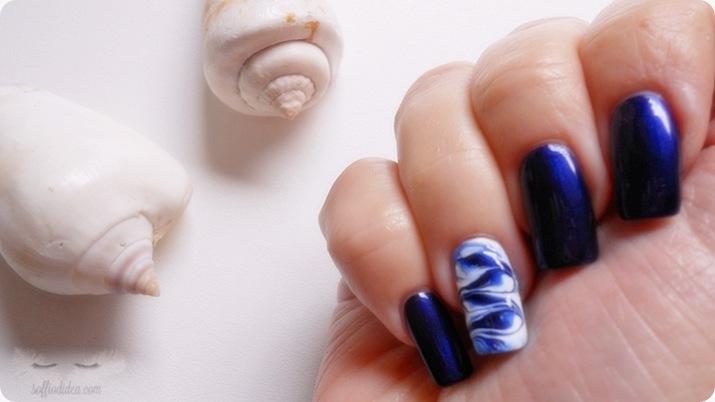nail art - nailart - marble - soffiodidea - soffio di dea - onde -10a
