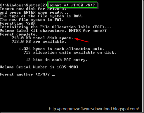 "How to format floppy disk 3.5"" 1.44MB to 720kB"