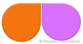 Paleta de Cores - Laranja e Rosa - Planeta Casamento