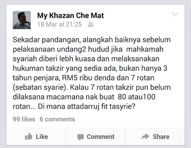 Hudud Pandangan Ini Perlu Dibaca Oleh ADUN PAS Kelantan