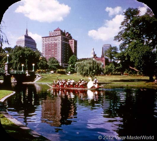 View-Master Boston (A726), Scene 9: Public Gardens