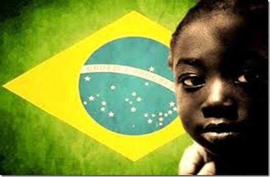 criança negra na bandeira