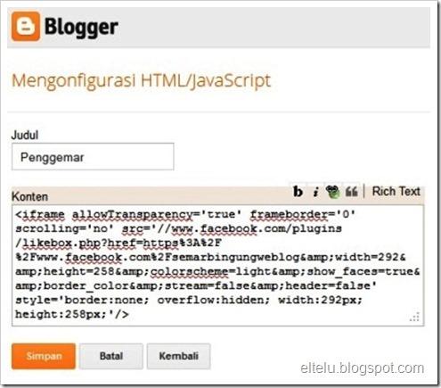 Ilustrasi Konfigurasi Kode Untuk Gadget