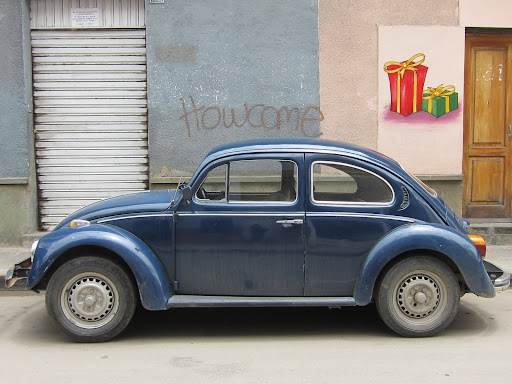 A VW bug on the streets of Tarija.
