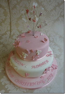 Christening-Cake-2-tier-Fairys-and-hearts-2