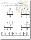 Multiplication Tiling Puzzle - Critical Thinking