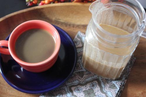 homemade dairy free pumpkin spice cofee creamer