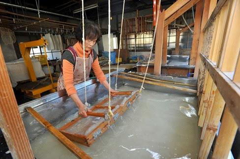 Papel tradicional japonês