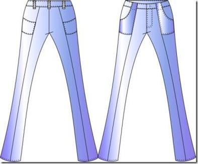 jeans desenho tecnico